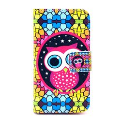 Brilliant Owl Leather Wallet Case for iPhone 4s / iPhone 4