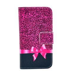 Bowknot Leather Wallet Case for iPhone 4s / iPhone 4