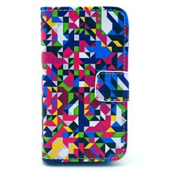 Fantasy Geometric Leather Wallet Case for iPhone 4s / iPhone 4