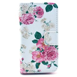 Chinese Rose Leather Wallet Case for iPhone 4s / iPhone 4