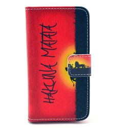 Hakuna Matata Leather Wallet Case for iPhone 4s / iPhone 4