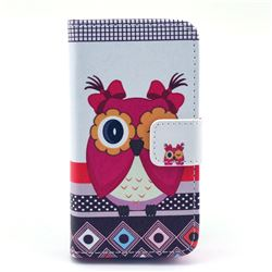 Owl Sister Leather Wallet Case for iPhone 4s / iPhone 4