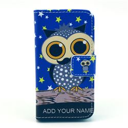 Starry Owl Leather Wallet Case for iPhone 4s / iPhone 4