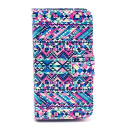 Triangle Tribal Leather Wallet Case for iPhone 4s / iPhone 4