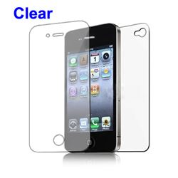 Front and Back Screen Protector Guard for iPhone 4 4S - Clear