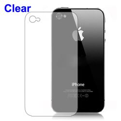 Clear Screen Protector Cover for iPhone 4 4S - Back