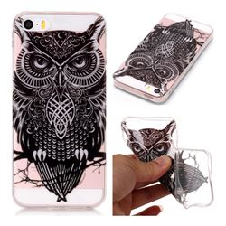 Staring Owl Super Clear Soft TPU Back Cover for iPhone SE 5s 5