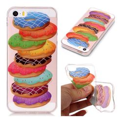 Melaleuca Donuts Super Clear Soft TPU Back Cover for iPhone SE 5s 5