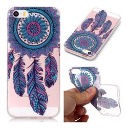 Blue Wind Chimes Super Clear Soft TPU Back Cover for iPhone SE 5s 5