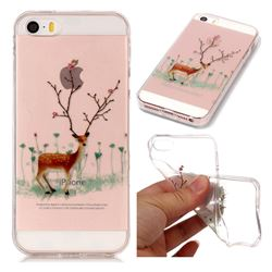 Branches Elk Super Clear Soft TPU Back Cover for iPhone SE 5s 5