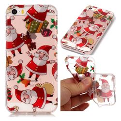 Santa Claus Super Clear Soft TPU Back Cover for iPhone SE 5s 5