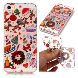 Christmas Playground Super Clear Soft TPU Back Cover for iPhone SE 5s 5