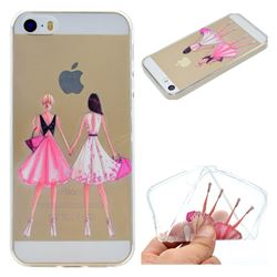 Maiden Honey Super Clear Soft TPU Back Cover for iPhone SE 5s 5