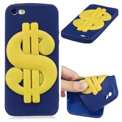 US Dollars Soft 3D Silicone Case for iPhone SE 5s 5