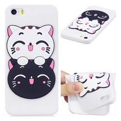 Couple Cats Soft 3D Silicone Case for iPhone SE 5s 5
