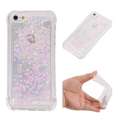 Dynamic Liquid Glitter Sand Quicksand Star TPU Case for iPhone SE 5s 5 - Pink