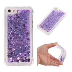 Dynamic Liquid Glitter Sand Quicksand Star TPU Case for iPhone SE 5s 5 - Purple
