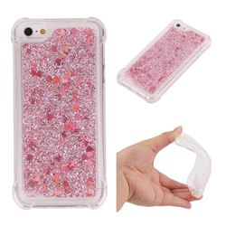 Dynamic Liquid Glitter Sand Quicksand Star TPU Case for iPhone SE 5s 5 - Diamond Rose