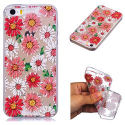 Chrysant Flower Super Clear Soft TPU Back Cover for iPhone SE 5s 5