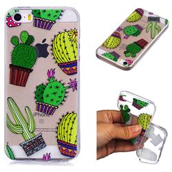 Cactus Ball Super Clear Soft TPU Back Cover for iPhone SE 5s 5
