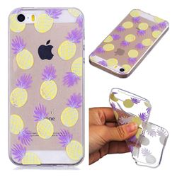 Carton Pineapple Super Clear Soft TPU Back Cover for iPhone SE 5s 5