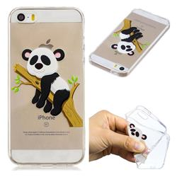Tree Panda Super Clear Soft TPU Back Cover for iPhone SE 5s 5