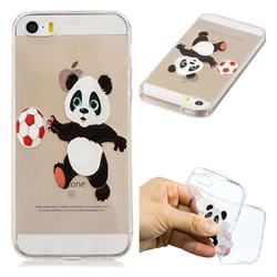Football Panda Super Clear Soft TPU Back Cover for iPhone SE 5s 5