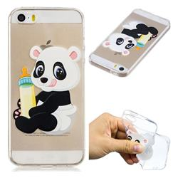 Baby Panda Super Clear Soft TPU Back Cover for iPhone SE 5s 5