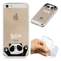 Hello Panda Super Clear Soft TPU Back Cover for iPhone SE 5s 5