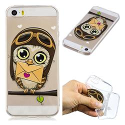 Envelope Owl Super Clear Soft TPU Back Cover for iPhone SE 5s 5