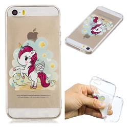 Cloud Star Unicorn Super Clear Soft TPU Back Cover for iPhone SE 5s 5