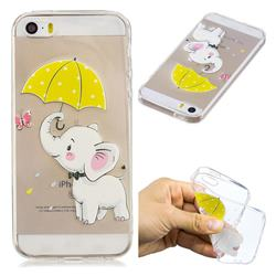 Umbrella Elephant Super Clear Soft TPU Back Cover for iPhone SE 5s 5
