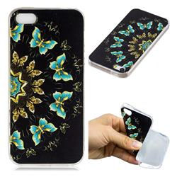 Circle Butterflies Super Clear Soft TPU Back Cover for iPhone SE 5s 5