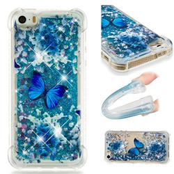 Flower Butterfly Dynamic Liquid Glitter Sand Quicksand Star TPU Case for iPhone SE 5s 5