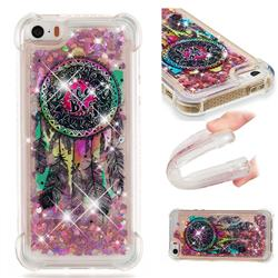 Seal Wind Chimes Dynamic Liquid Glitter Sand Quicksand Star TPU Case for iPhone SE 5s 5
