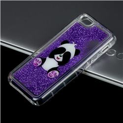 Naughty Panda Glassy Glitter Quicksand Dynamic Liquid Soft Phone Case for iPhone SE 5s 5