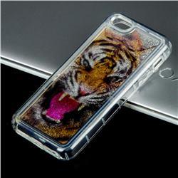 Tiger Glassy Glitter Quicksand Dynamic Liquid Soft Phone Case for iPhone SE 5s 5