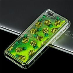 Pineapple Glassy Glitter Quicksand Dynamic Liquid Soft Phone Case for iPhone SE 5s 5