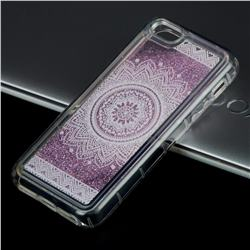 Mandala Glassy Glitter Quicksand Dynamic Liquid Soft Phone Case for iPhone SE 5s 5