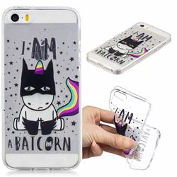 Batman Clear Varnish Soft Phone Back Cover for iPhone SE 5s 5