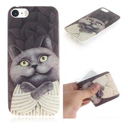 Cat Embrace IMD Soft TPU Cell Phone Back Cover for iPhone SE 5s 5
