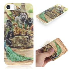 Beast Zoo IMD Soft TPU Cell Phone Back Cover for iPhone SE 5s 5