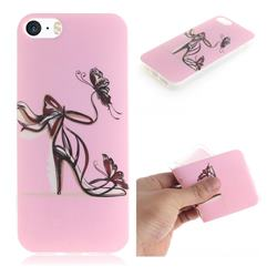 Butterfly High Heels IMD Soft TPU Cell Phone Back Cover for iPhone SE 5s 5