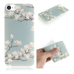 Magnolia Flower IMD Soft TPU Cell Phone Back Cover for iPhone SE 5s 5