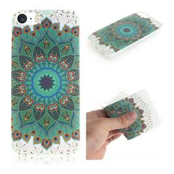 Peacock Mandala IMD Soft TPU Cell Phone Back Cover for iPhone SE 5s 5