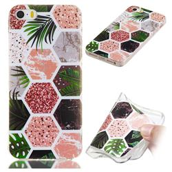 Rainforest Soft TPU Marble Pattern Phone Case for iPhone SE 5s 5