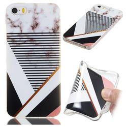Pinstripe Soft TPU Marble Pattern Phone Case for iPhone SE 5s 5