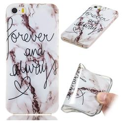 Forever Soft TPU Marble Pattern Phone Case for iPhone SE 5s 5