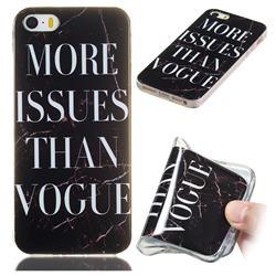 Stylish Black Soft TPU Marble Pattern Phone Case for iPhone SE 5s 5