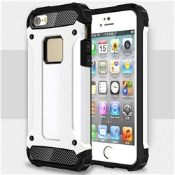 King Kong Armor Premium Shockproof Dual Layer Rugged Hard Cover for iPhone SE 5s 5 - White